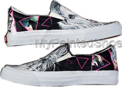 Slip-on Lady Gaga Born This Way Painted Canvas Shoes-3