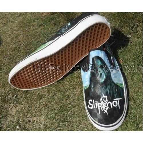Metal Gods Slipknot masks Hand painted Shoes-1