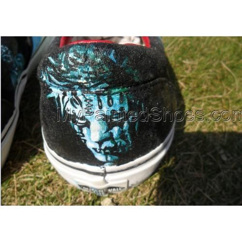 Metal Gods Slipknot masks Hand painted Shoes-4