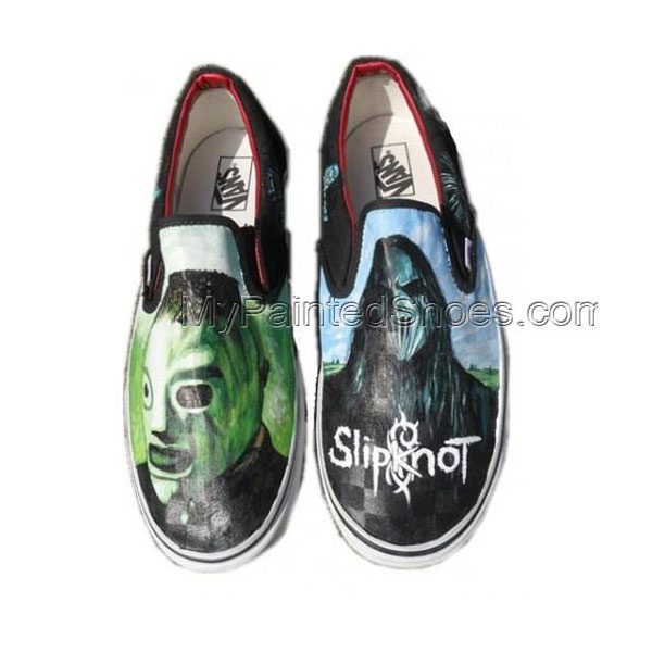 Metal Gods Slipknot masks Hand painted Shoes
