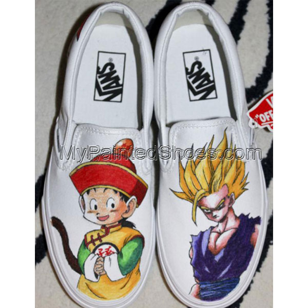 Gohan Dragon Ball Z Hand Painted Cavas Shoes