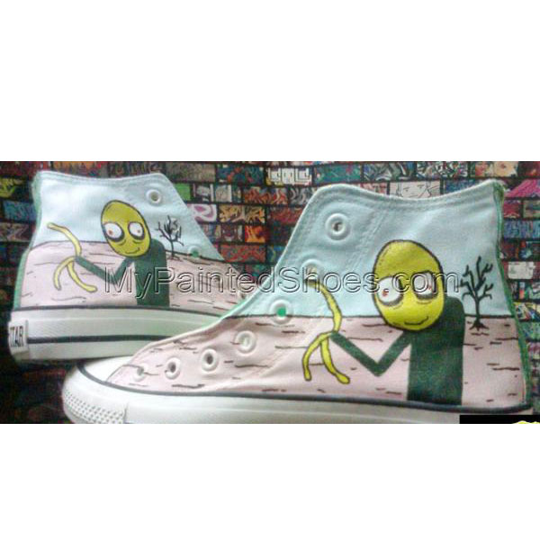 Painted Chuck Taylors Salad Fingers Hand Painted Cavas Shoes