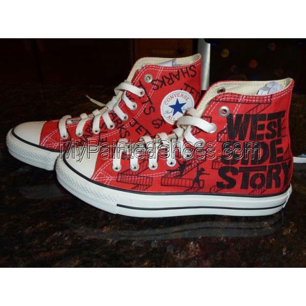 Painted Canvas Shoes West Side Story sneakers