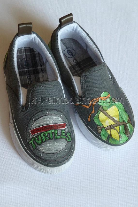 TMNT Painted Shoes- Reserved For Cherrybomb215-1
