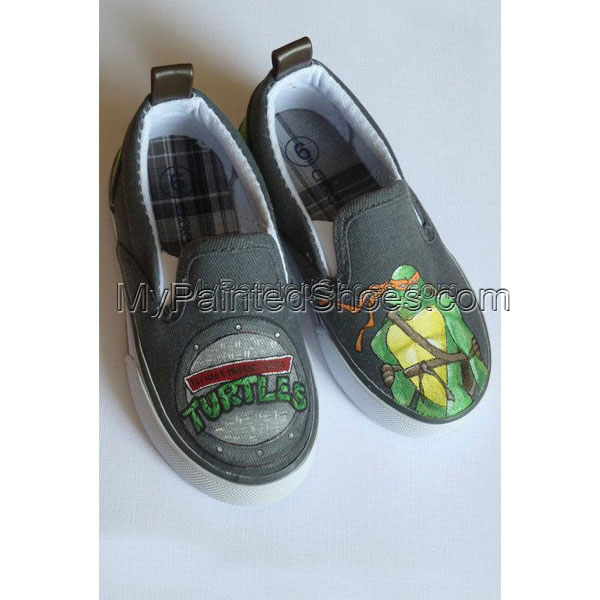 TMNT Painted Shoes- Reserved For Cherrybomb215