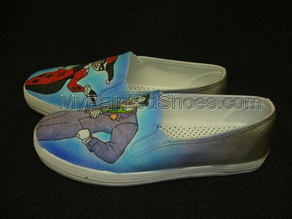 Harley Quinn and Joker Custom Designed Shoes-4