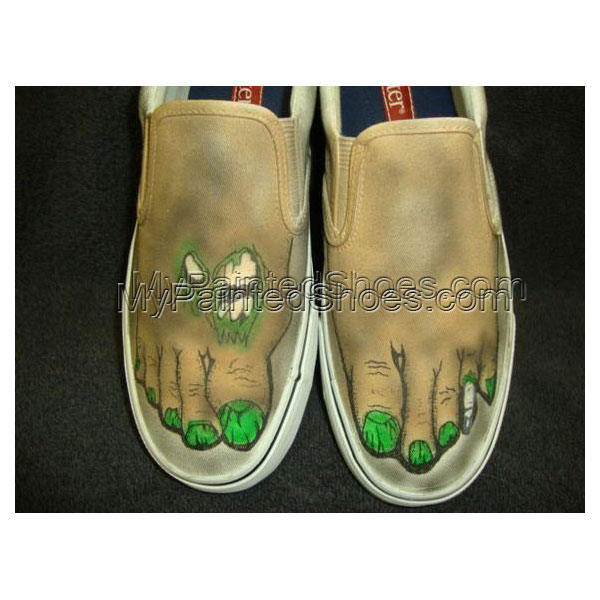Zombie Feet Custom Designed Shoes