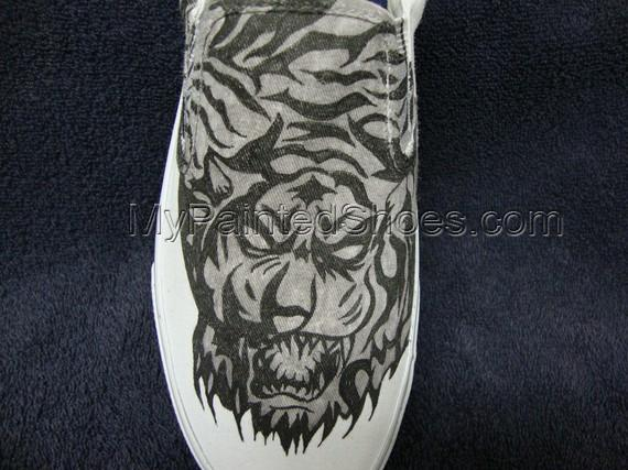 Tribal Tiger Tattoo Inspired Custom Designed Shoes-1