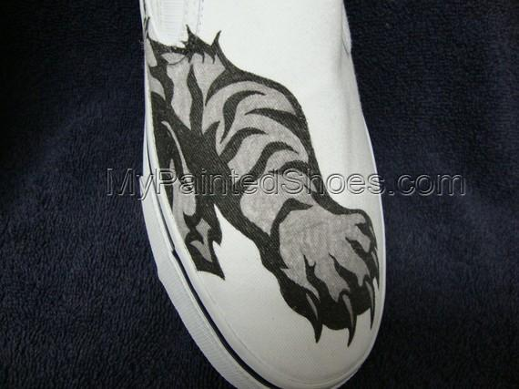 Tribal Tiger Tattoo Inspired Custom Designed Shoes-2