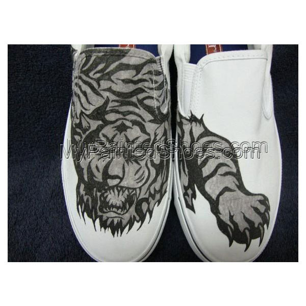 Tribal Tiger Tattoo Inspired Custom Designed Shoes
