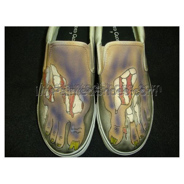Zombie Feet Custom Designed Shoes 2