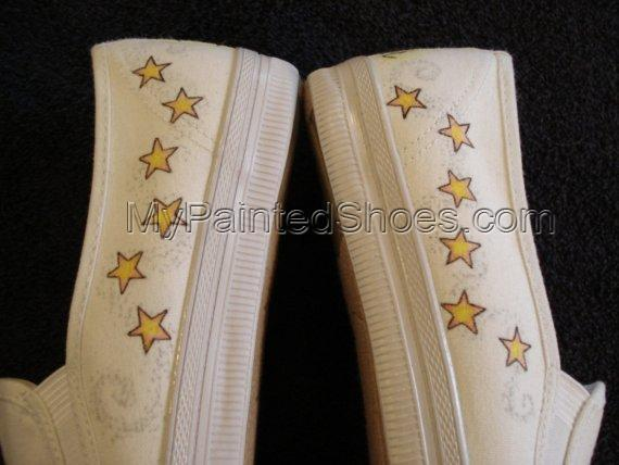 Sun\/Moon Tattoo Inspired Custom Designed Shoes-4