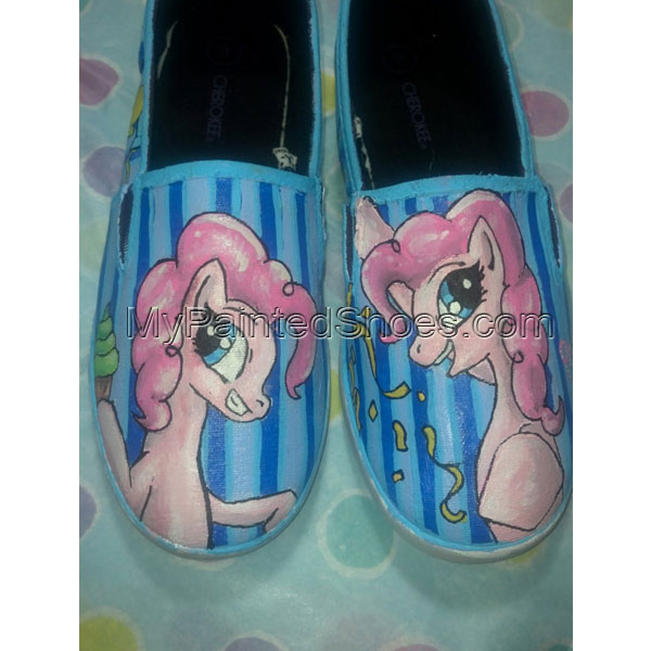 Hand painted Shoes, MLP Pinkie Pie, Flats