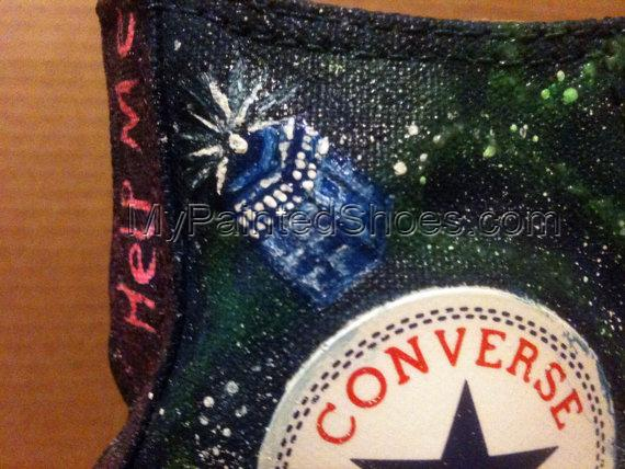 Doctor Who Hand Painted Shoes High-top Shoes-4