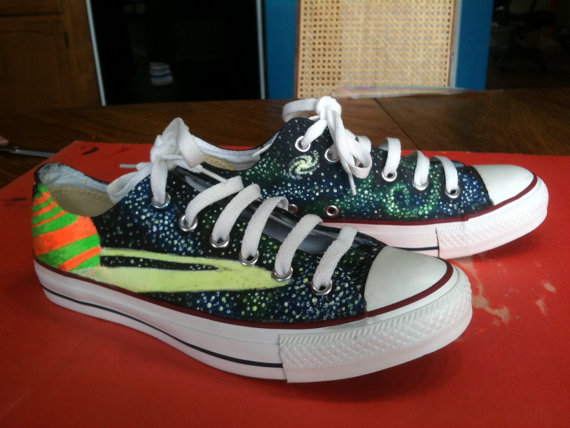 Space Custom Painted Shoes-1