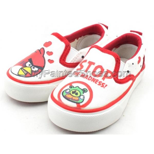 Angry Birds Kids Canvas shoes Hand Painted Angry Birds Kids Canv-2