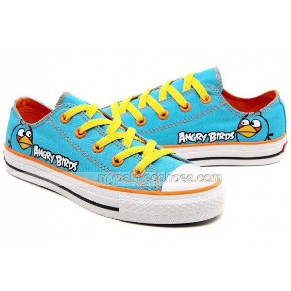 Angry Birds Canvas Shoes Blue Birds Sneakers-1