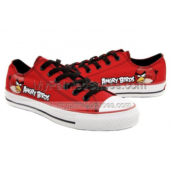 Angry Birds Canvas Shoes Red Angry Birds Sneakers Red Birds Shoe