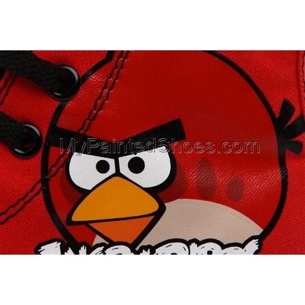 Angry Birds High Top Canvas Shoes Red Birds Shoes-3