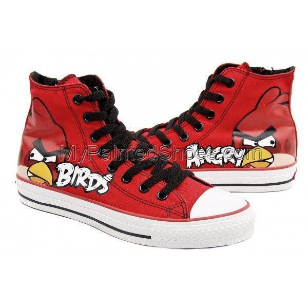 Angry Birds High Top Canvas Shoes Red Birds Shoes