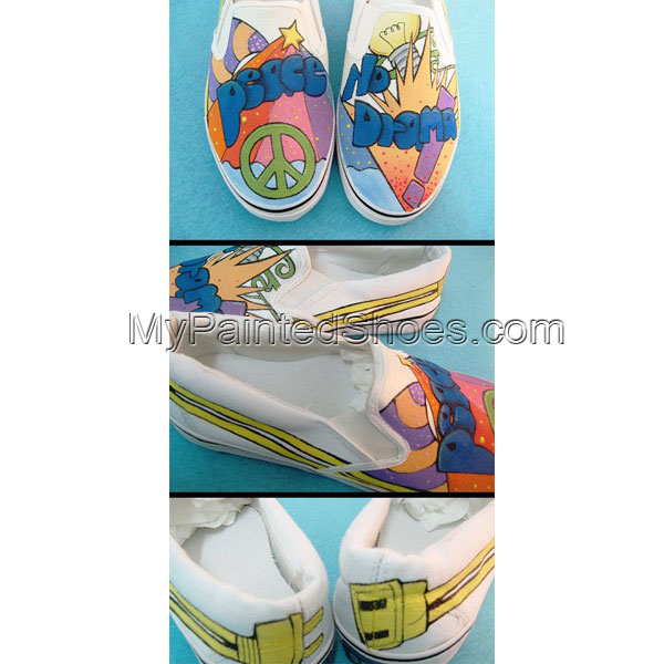 Peace Shoes Anime Peace Shoes Hand Painted Custom Peace Shoes