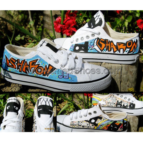 Graffiti Shoes Canvas Shoes Slip-on Painted Canvas Shoes