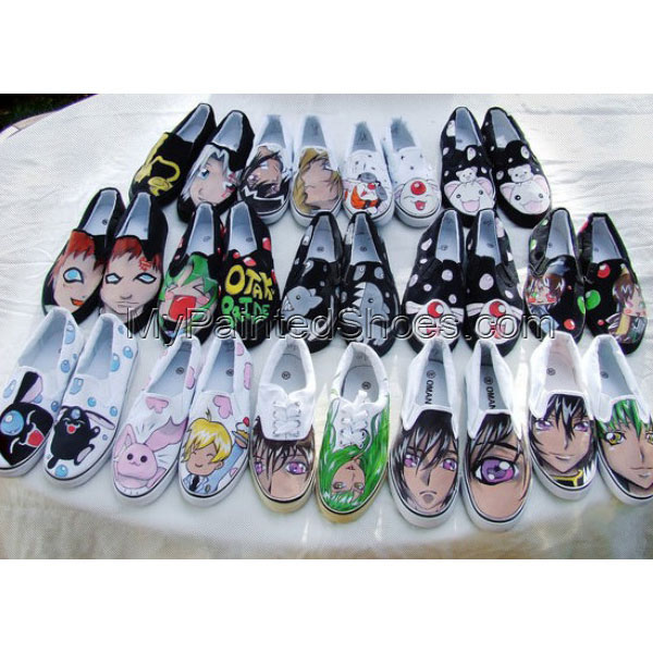 Anime Canvas Shoes Painted Anime Canvas Shoes