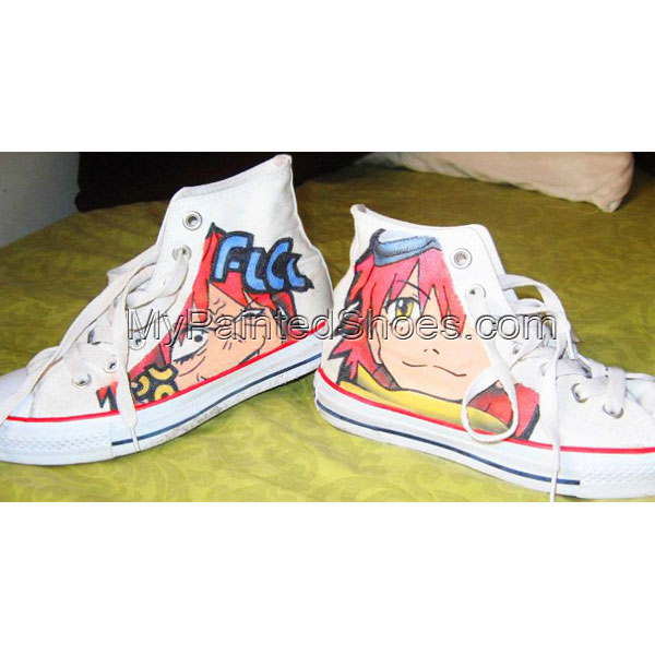 FLCL painted shoes anime hand painted shoes