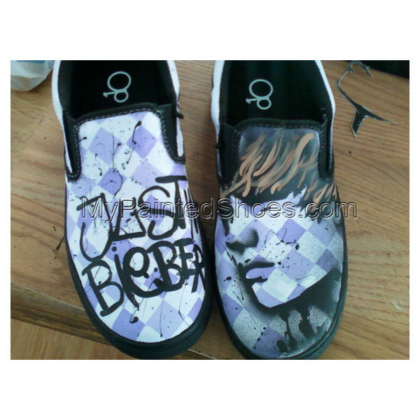 Justin Bieber Custom Painted Canvas Shoes