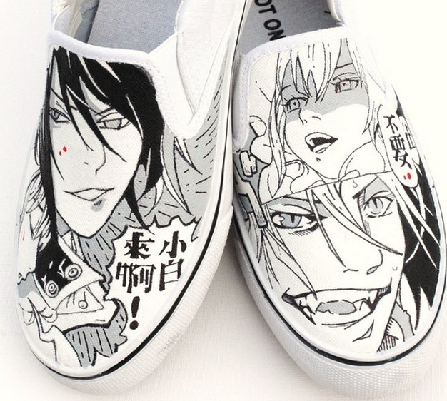 Manga Comic Book Hand painted Sneakers for Men and Women-1