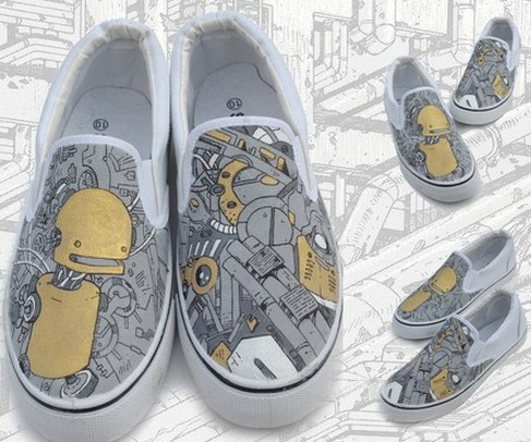 Robot custom Sneakers for Men and Women-1
