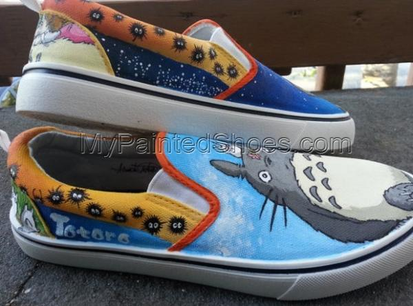 My Neighbor Totoro Slip-on Painted Canvas Shoes-2