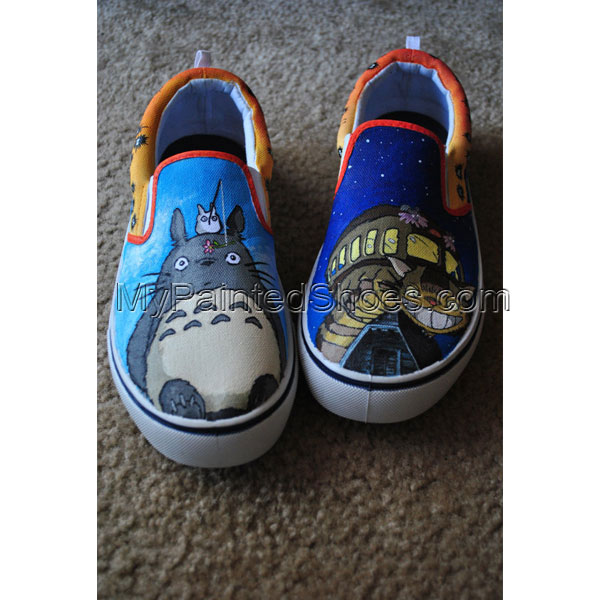 My Neighbor Totoro Slip-on Painted Canvas Shoes