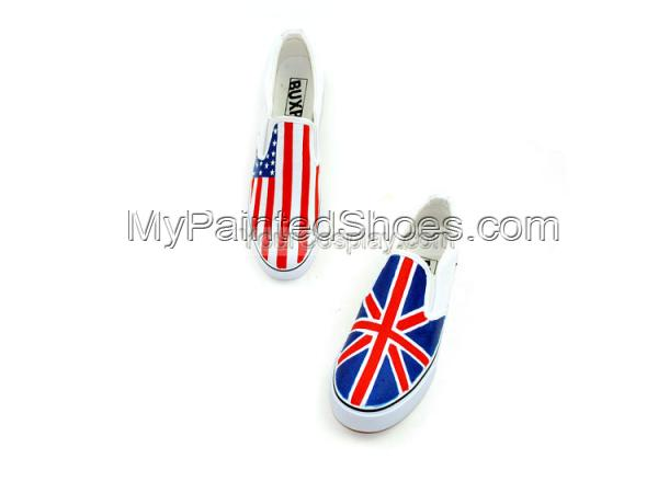 Flag Sneaker Stylish Union Jack Flag Sneaker Hand Painted Shoes-2