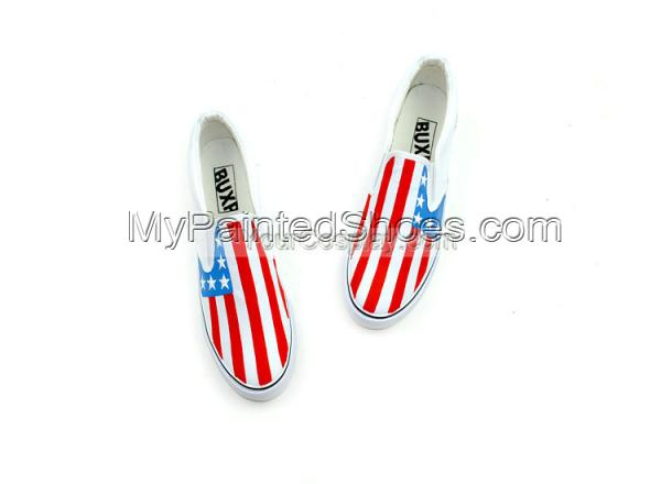 Flag Sneaker Stylish Union Jack Flag Sneaker Hand Painted Shoes-3