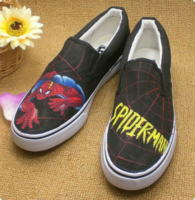 Low SpiderMan Black Sneaker SpiderMan Canvas Shoes-1