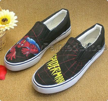 Low SpiderMan Black Sneaker SpiderMan Canvas Shoes-2