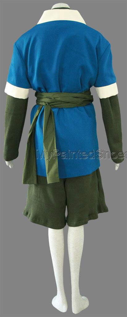 Haku Shirt and Pants (1rd) from Naruto Cosplay Costumes-4