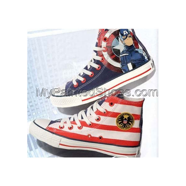 The Avengers Captain America Canvas Sneakers Painted Shoes for M