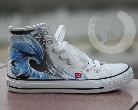 Morphling Inspired Custom Sneakers High-top Painted Canvas Shoes-1