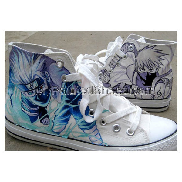 Kakashi Anime Sneaker Naruto Hand Paint Kakashi on Sneakers