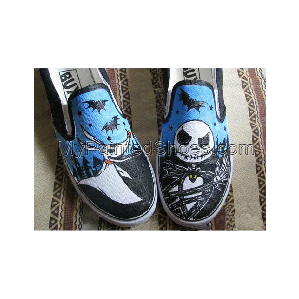Nightmare Before Christmas Slip-on Painted Canvas Shoes