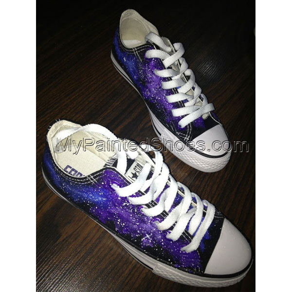 b747563a07 Galaxy Sneakers Hand Painted Low-top Painted Canvas Shoes