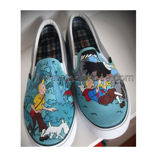 Anime Sneaker Slip-on Painted Canvas Shoes