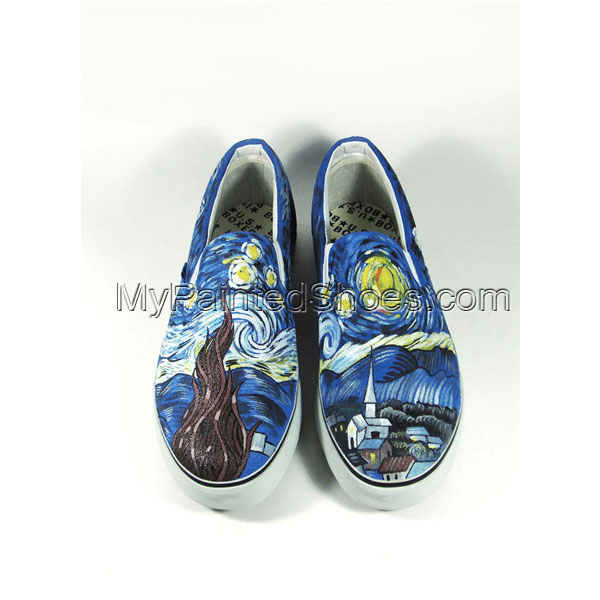 The Starry Night Sneaker Slip-on Painted Canvas Shoes
