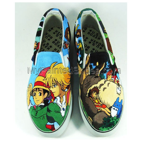 My Neighbor Totoro Sneaker Slip-on Painted Canvas Shoes