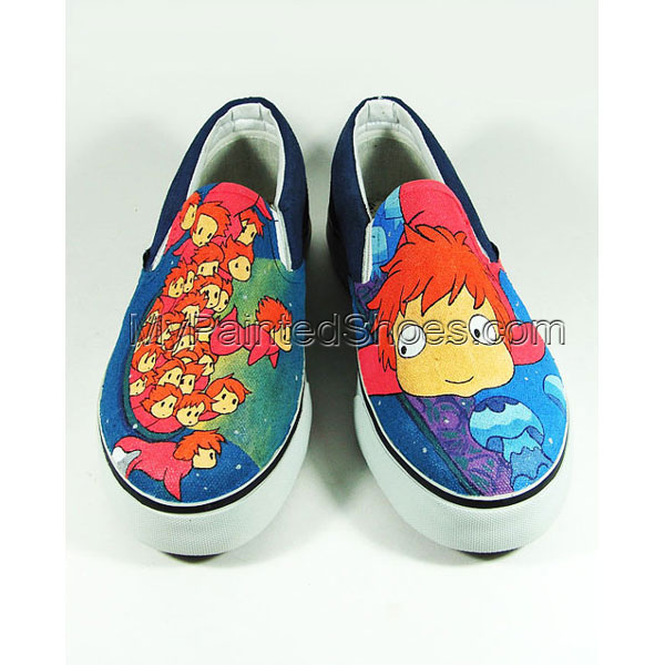 Custom Anime Shoes Slip-on Painted Canvas Shoes