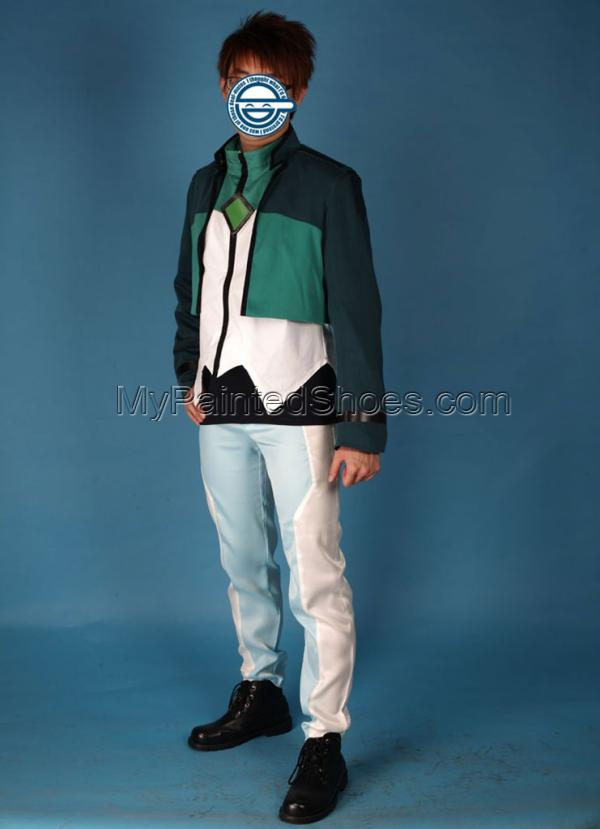 Lockon Stratos Costume Celestial Being Cosplay Green From Gundam-2