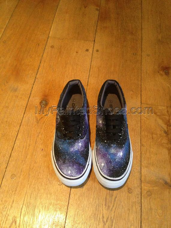 Galaxy painted shoes Custom Galaxy painted sneaker-3