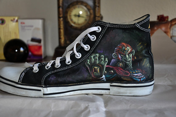 Custom Hand Painted Shoes Zelda Painted Canvas Shoes-1